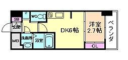 SERENiTE福島シェルト 8階1DKの間取り