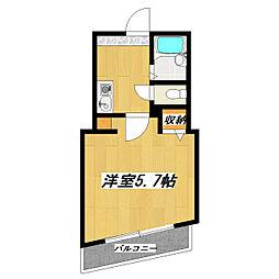 ピノ・ノワール篠崎[202号室]の間取り