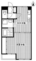 東京都中野区大和町4丁目の賃貸マンションの間取り