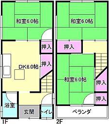 [一戸建] 大阪府枚方市茄子作東町 の賃貸【/】の間取り