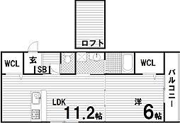 ロータスコート長田[2階]の間取り