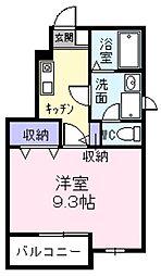 東京都福生市南田園3丁目の賃貸アパートの間取り