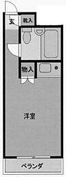 セザール登戸[217号室]の間取り