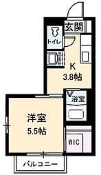 アンシャンテ 新田 B棟[2階]の間取り