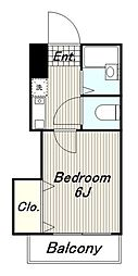 多摩都市モノレール 大塚・帝京大学駅 徒歩13分の賃貸アパート 1階1Kの間取り