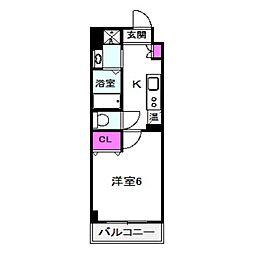 Osaka Metro谷町線 太子橋今市駅 徒歩1分の賃貸マンション 1階1Kの間取り