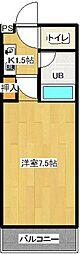SOLEIL TOKI2(エスポワールハイツ)[201号室]の間取り