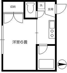 内田ハイツ[1階]の間取り