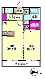 メゾンSHU[102号室]の間取り