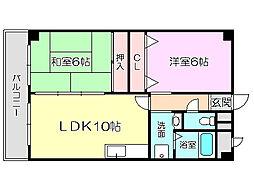 エミネンス新大阪[6階]の間取り