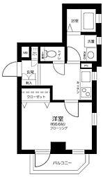 ソシエ東長崎 1階1Kの間取り
