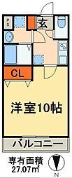 sea side residence 5階1Kの間取り