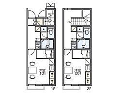 レオパレスマロンハイツ4[2階]の間取り