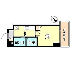 JR東海道・山陽本線 神戸駅 徒歩15分の賃貸マンション 7階1Kの間取り