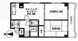 神奈川県横浜市南区大岡1丁目の賃貸マンションの間取り
