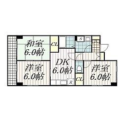 HOME'S第3キューブ[206号室]の間取り