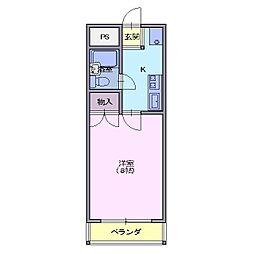 コーポ21[1階]の間取り