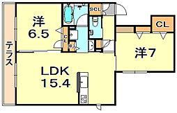 (仮称)シャーメゾン神戸市東灘区深江南町 1階2LDKの間取り