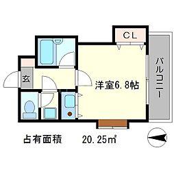 聖護院谷口マンション[4階]の間取り
