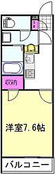 つくばエクスプレス 三郷中央駅 徒歩24分の賃貸アパート 2階1Kの間取り