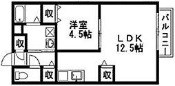 グランダールクラタ[2階]の間取り