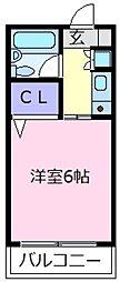 大阪府松原市天美東4の賃貸マンションの間取り