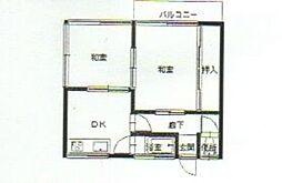 渡邊アパート[202号室]の間取り
