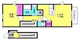 兵庫県加古川市野口町古大内の賃貸アパートの間取り