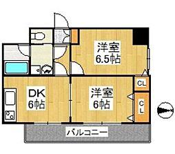 天神アコールマンション[301号室]の間取り