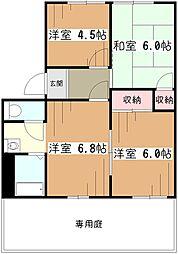 サンレイクコグレ[1階]の間取り