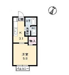 メゾン デラ W C[2階]の間取り
