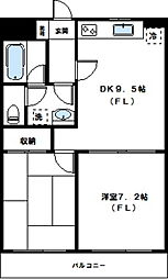 神奈川県川崎市高津区諏訪2丁目の賃貸マンションの間取り