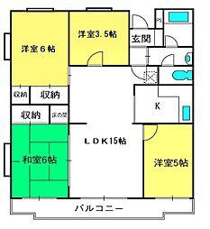 埼玉県さいたま市見沼区大和田町2丁目の賃貸マンションの間取り