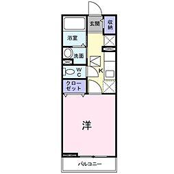 南海高野線 金剛駅 徒歩19分の賃貸アパート 1階1Kの間取り