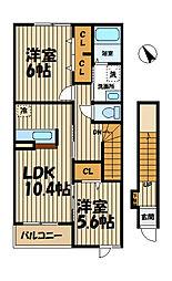 ラブリーメゾン鎌倉[2階]の間取り