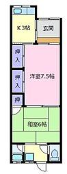 [テラスハウス] 大阪府松原市上田4丁目 の賃貸【/】の間取り