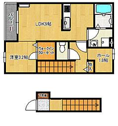 バローニA棟[2階]の間取り
