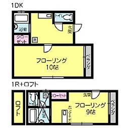 シナモンハウス[203号室]の間取り