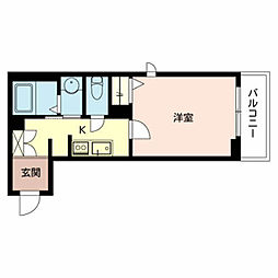 (仮称)SHM尼崎市今福 2階1Kの間取り