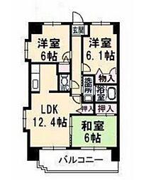 サンルーフパークマンション[2階]の間取り