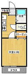 第六ユーカリ[1階]の間取り