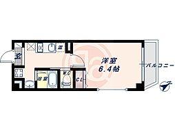 阪堺電気軌道阪堺線 東粉浜駅 徒歩4分の賃貸マンション 6階1Kの間取り