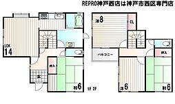 [一戸建] 兵庫県神戸市西区学園東町1丁目 の賃貸【/】の間取り