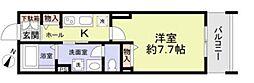 東寺尾新築計画 3階1Kの間取り
