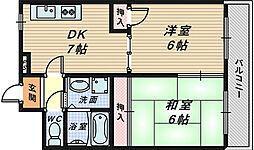 リエス浅香山[2階]の間取り