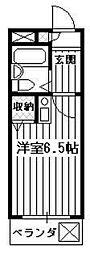煉瓦館58[1階]の間取り