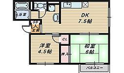 ソファレ堺東A棟[1階]の間取り
