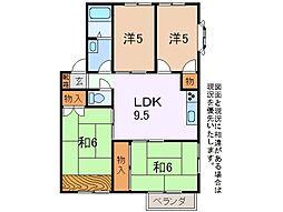 ルーミー甲府32号館[2階]の間取り