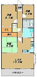 サンワプラザ須磨山の手[5階]の間取り