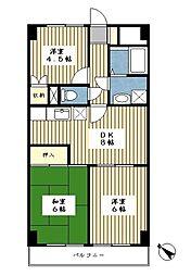 エトワール富士見が丘[702号室]の間取り